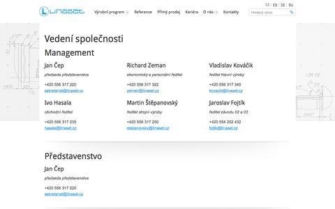 Screenshot of Team Page linaset.cz - Management   Linaset a.s. - captured May 21, 2016