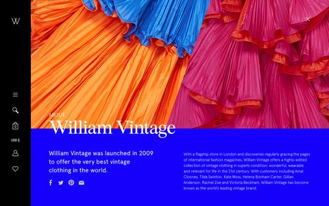 Screenshot of About Page williamvintage.com - William Vintage - captured May 7, 2016