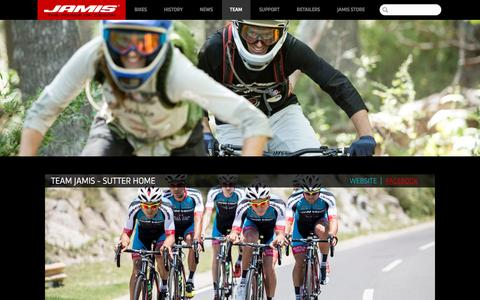 Screenshot of Team Page jamisbikes.com - TEAM - captured Nov. 25, 2016
