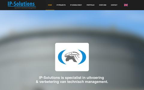 Screenshot of Home Page ip-solutions.nl - Home - IP-Solutions - captured Jan. 21, 2015