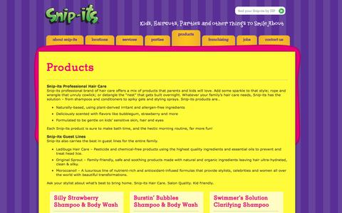Screenshot of Products Page snipits.com - Products » Snip-its - captured Sept. 19, 2014