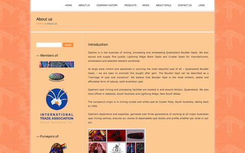 Screenshot of About Page opaline.com.au - About us | Opaline - captured Oct. 9, 2014