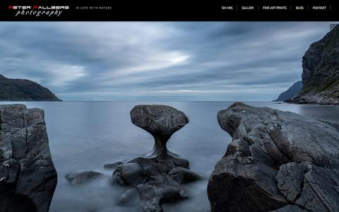 Screenshot of Home Page pf-foto.com - Peter Fallberg Photography - captured July 18, 2015