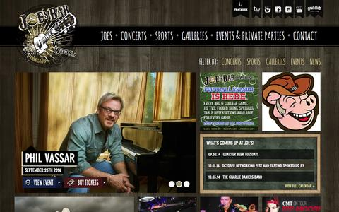 Screenshot of Press Page joesbar.com - Joe's Bar - captured Sept. 30, 2014