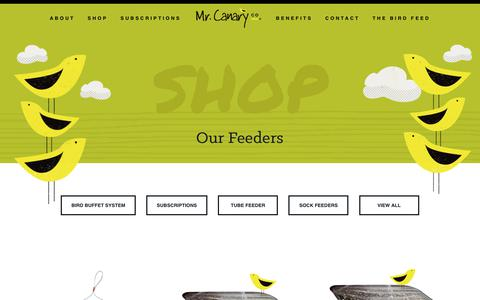 Screenshot of Products Page mrcanary.com - The Mr. Canary Company - captured Oct. 18, 2018