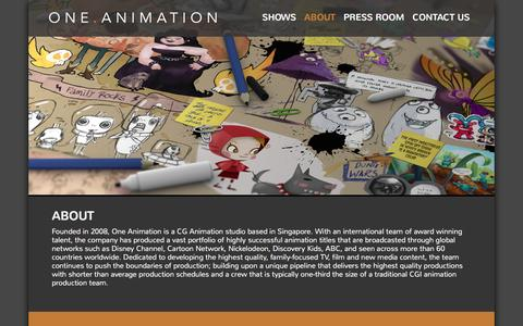 Screenshot of About Page oneanimation.com - One Animation - captured Feb. 14, 2016