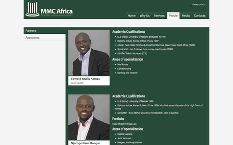 Screenshot of Team Page wakili.com - MMC- Top Lawyers, Advocates in Kenya| Law Firm Kenya - captured Oct. 3, 2014