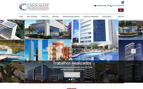 Screenshot of Home Page caiocalfat.com.br - Caio Calfat - Real Estate Consulting - Planning e Development - captured May 19, 2016