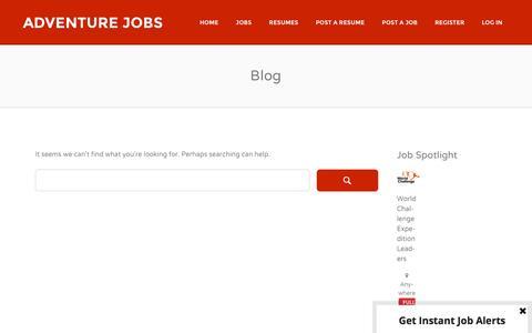 Screenshot of Blog adventurejobs.co.nz - Blog | Adventure Jobs - captured Feb. 5, 2016