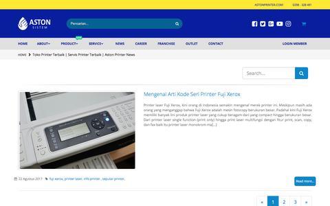 Screenshot of Press Page astonprinter.com - Toko Printer Terbaik | Servis Printer Terbaik | Aston Printer News - captured July 31, 2018