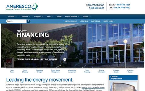 Ameresco | Renewable Energy, Energy Efficiency & Management, ESPCs