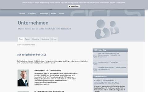 Screenshot of Team Page dccs.at - Team - DCCS - DCCS - captured Dec. 2, 2016