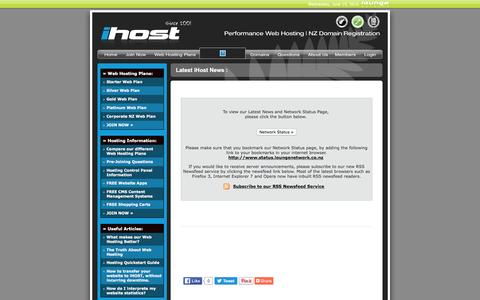 Screenshot of Press Page ihost.co.nz - Latest News | iHOST - captured June 16, 2016
