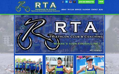 Screenshot of Home Page ridgewoodtriathlete.com - Home | Ridgewood Tri Athlete - captured Sept. 30, 2014