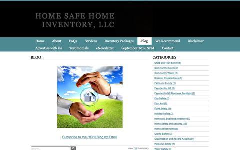 Screenshot of Blog homesafehomeinventory.com - Blog - Home Safe Home Inventory, LLC - captured Oct. 2, 2014