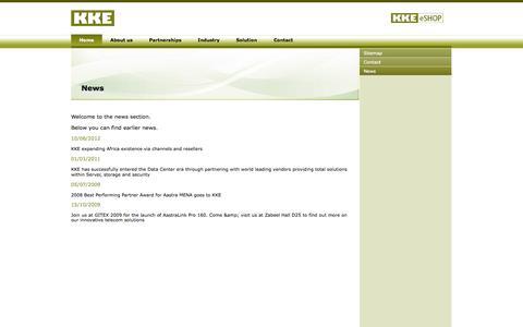 Screenshot of Press Page kke.ae - KKE > News - captured Sept. 30, 2014