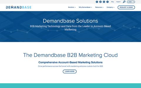 Demandbase Solutions :: Account-Based Marketing – Demandbase