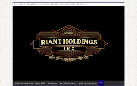 Screenshot of Press Page riantholdings.com - Press - Riant Holdings, Inc. - captured Feb. 15, 2016