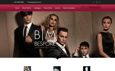Screenshot of Home Page shopbeaumonde.com - Toronto Bespoke Suits | Beau Monde Bespoke - captured Oct. 5, 2014