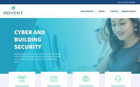 Screenshot of Home Page adventcom.com - IT Services & Voice Solutions | Advent Communication Systems - captured Nov. 12, 2018