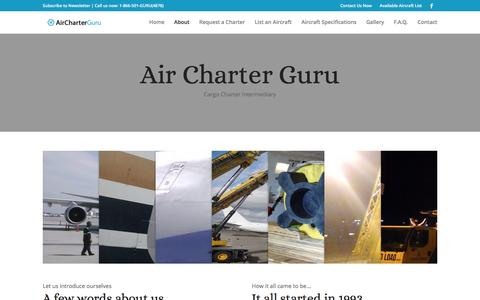 Screenshot of About Page aircharterguru.com - About - Air Charter Guru - captured May 29, 2017