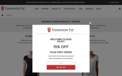 Sweat Proof Shirts For Women By Thompson Tee | Guaranteed To Protect Against Sweat
