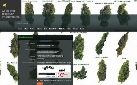 Screenshot of Signup Page myweedheads.com - MyWeedHeads - Sign-up - captured Oct. 7, 2014