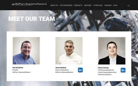 Screenshot of Team Page bpesys.com - Our Team | BioPharm Engineered Systems | A CPS Group Company - captured Oct. 10, 2017