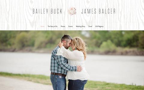 Screenshot of Home Page baileyandjames.com - Bailey Buck & James Balcer — Minted - captured Nov. 22, 2016