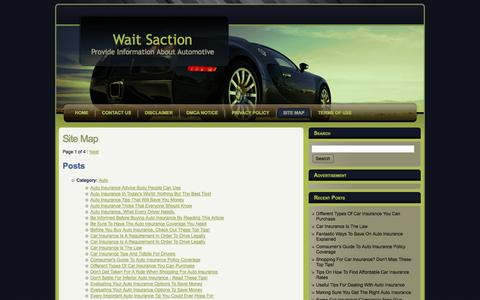 Screenshot of Site Map Page waitsaction.net - Site Map | Wait Saction - captured Oct. 1, 2014