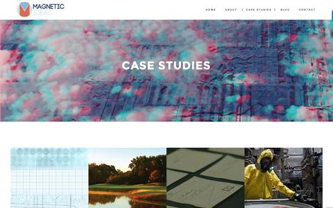 Screenshot of Case Studies Page magnetic-ideas.com - Case Studies - Magnetic - captured Nov. 19, 2016