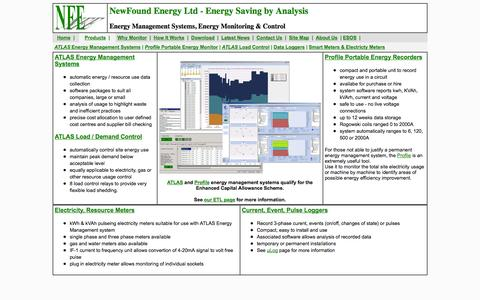 Screenshot of Products Page newfound-energy.co.uk - Energy Management and Monitoring Systems - NewFound Energy Ltd - captured Oct. 6, 2014
