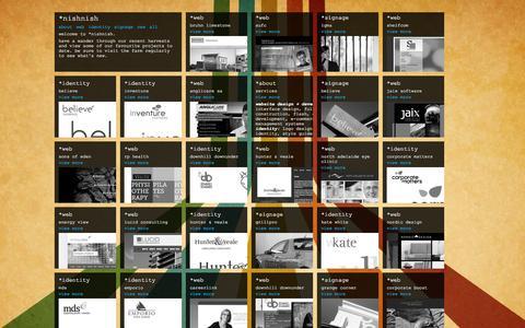 Screenshot of Home Page nishnish.com - *nishnish - captured Feb. 13, 2016