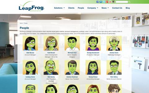 LeapFrog Solutions - People