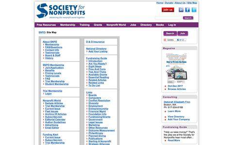 Site Map | Society for Nonprofits