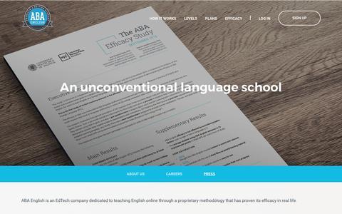 Screenshot of Press Page abaenglish.com - Is ABA English a good course? | ABA English - captured Oct. 6, 2017