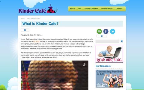 Screenshot of About Page kindercafe.ca - What is Kinder Cafe?   Kinder Cafe - captured Nov. 27, 2016