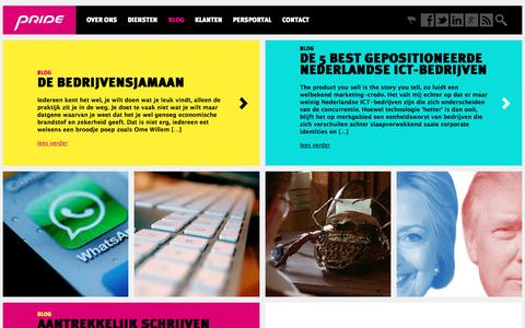 Screenshot of Blog pridepr.nl - Geboren verhalenvertellers - captured Nov. 12, 2016