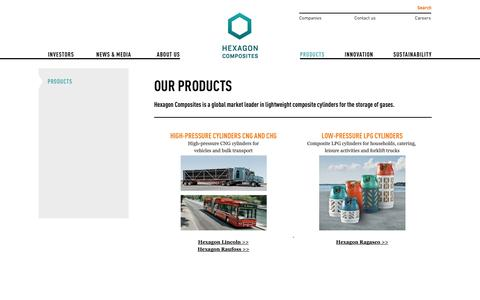 Screenshot of Products Page hexagon.no - Our products - Hexagon - captured Oct. 2, 2014