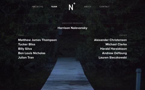 Screenshot of Team Page northofnewyork.com - North of New York - captured Jan. 10, 2016