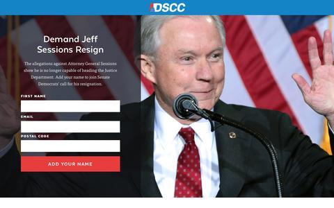 Screenshot of Landing Page dscc.org - |  Demand Sessions Resign - captured March 10, 2017