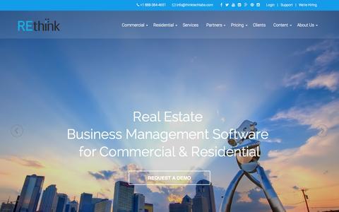 Screenshot of Home Page rethinkcrm.com - REthink Real Estate Software for Brokers and AgentsREthink CRM - captured Sept. 17, 2015