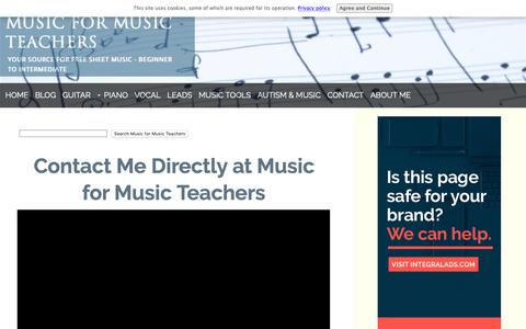 Screenshot of Contact Page music-for-music-teachers.com - Contact Music for Music Teachers - captured Oct. 19, 2018