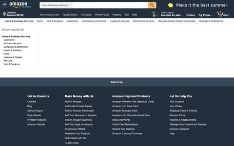 Screenshot of Services Page amazon.com - Amazon.com: Home & Business Services - captured May 16, 2019