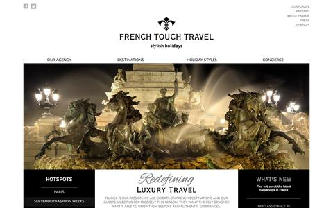 Screenshot of Home Page Terms Page frenchtouch.travel - French Touch Travel: Tailor Made Tours And Luxury Holidays In France - captured Oct. 6, 2014