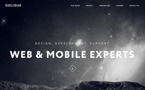 Screenshot of Home Page rolique.io - ROLIQUE - Web & Mobile experts. We build better web. - captured Dec. 5, 2018
