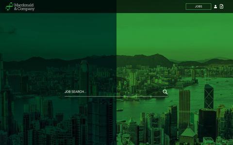 Screenshot of Home Page macdonaldandcompany.com - Homepage | Macdonald And Company - captured May 16, 2019