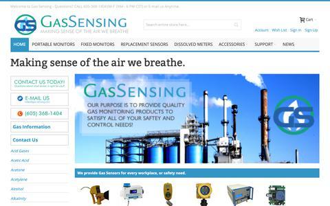 Screenshot of Home Page gas-sensing.com - Gas Sensors Gas Sensing Homepage  - Gas-Sensing.com - captured Dec. 5, 2018