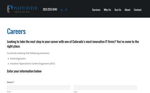 Screenshot of Jobs Page platteriver.com - Careers - Platte River Networks - captured Nov. 6, 2015