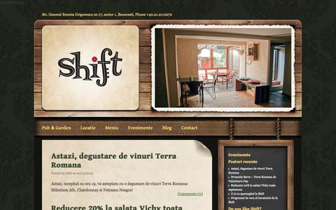 Screenshot of Blog shiftpub.ro - Blog «  Shift Pub - captured Oct. 26, 2014